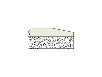 לוח גבס עם רדיד אלומיניום וקלקר
